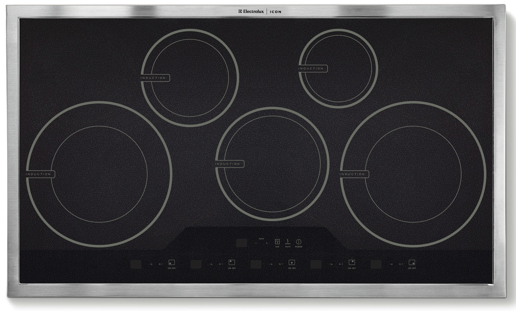New Electrolux Icon Stainless Steel 36 inch Full Induction Cooktop E36IC80ISS