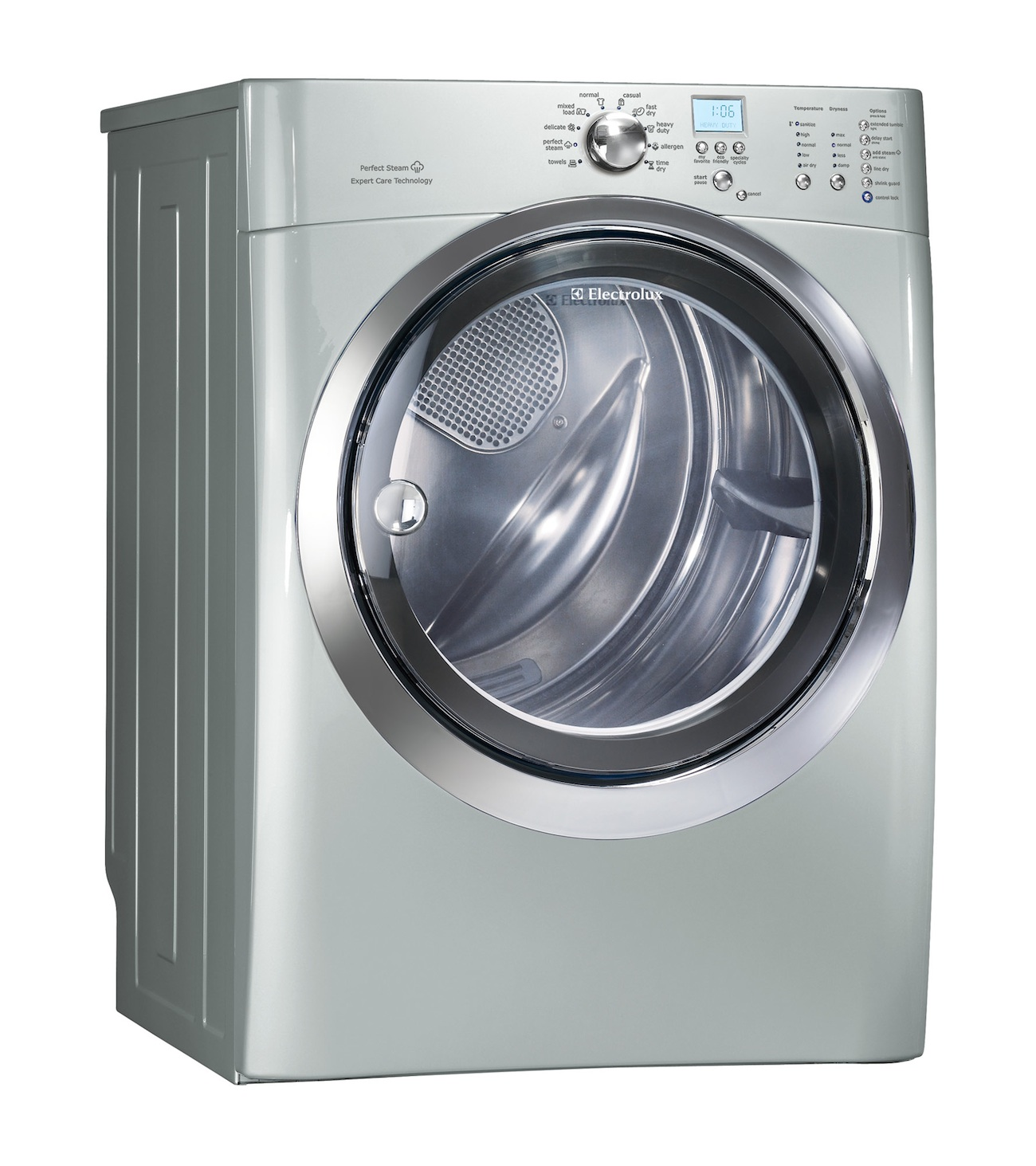 Electrolux Silver Steam Washer & Steam ELECTRIC Dryer