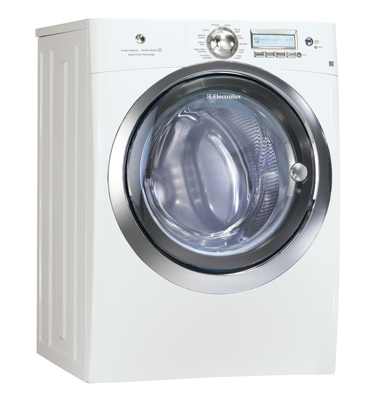 Electrolux white steam washer and steam electric dryer set Electrolux washer and dryer