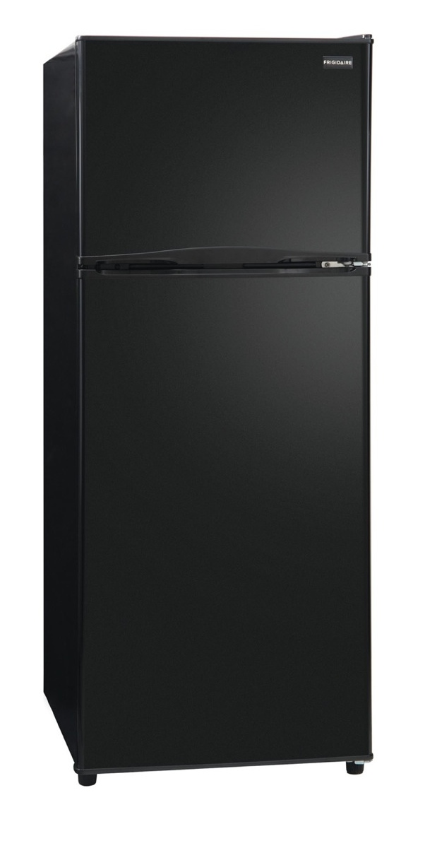 new frigidaire black top freezer apartment size