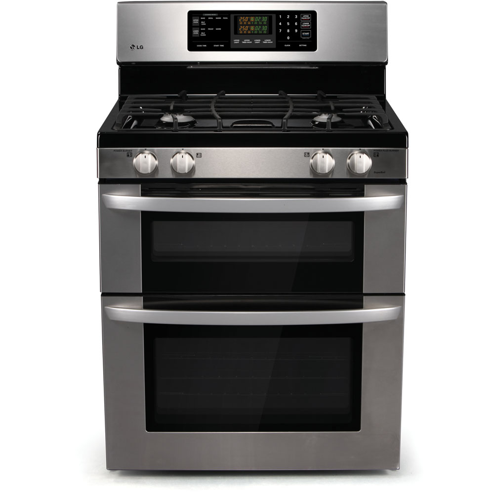 New LG Stainless Steel Double Oven Gas Range LDG3011ST