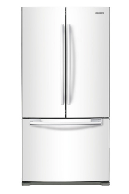 New Samsung White 18 CU ft French Door Refrigerator ...