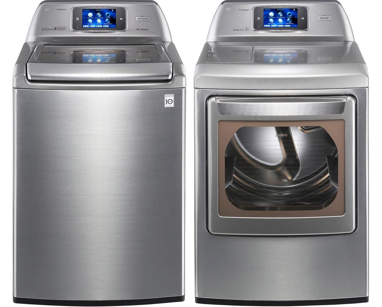 Lg Dryer Manufacturer Warranty ~ New lg graphite top load washer steam electric dryer