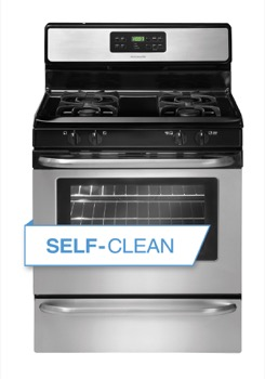 New frigidaire stainless steel self cleaning gas 30 range stove ffgf3053ls - Clean gas range keep looking new ...